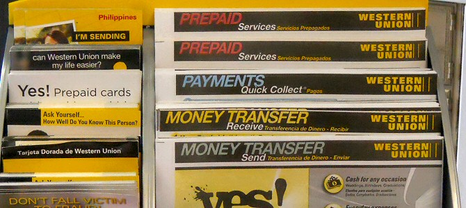 Western Union Money Orders may be purchased at the All American Mail Center, Napa California